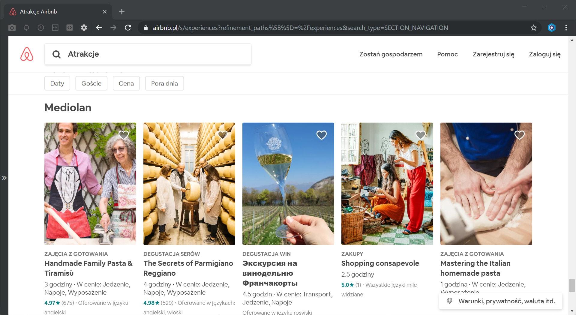 Airbnb atrakcje w Mediolanie
